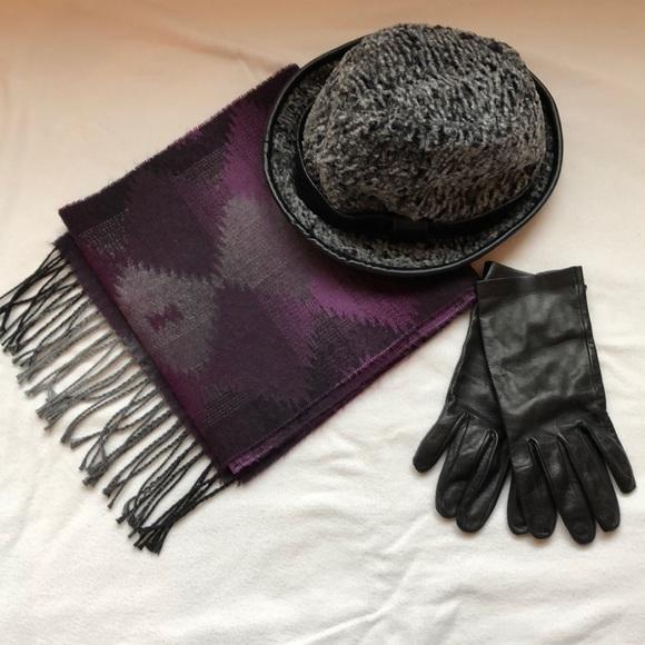 27053cb4 Daniele Meucci Accessories | Meucci Hat With Scarfgloves | Poshmark